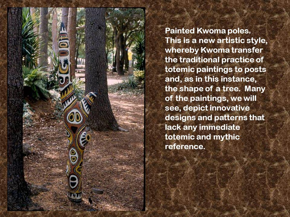 Painted Kwoma poles.
