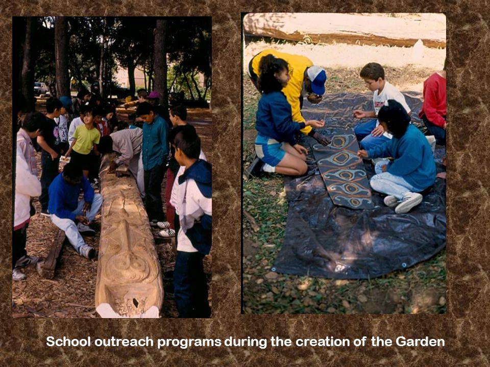 School outreach programs during the creation of the Garden