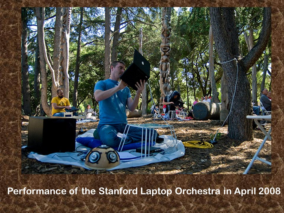 Performance of the Stanford Laptop Orchestra in April 2008