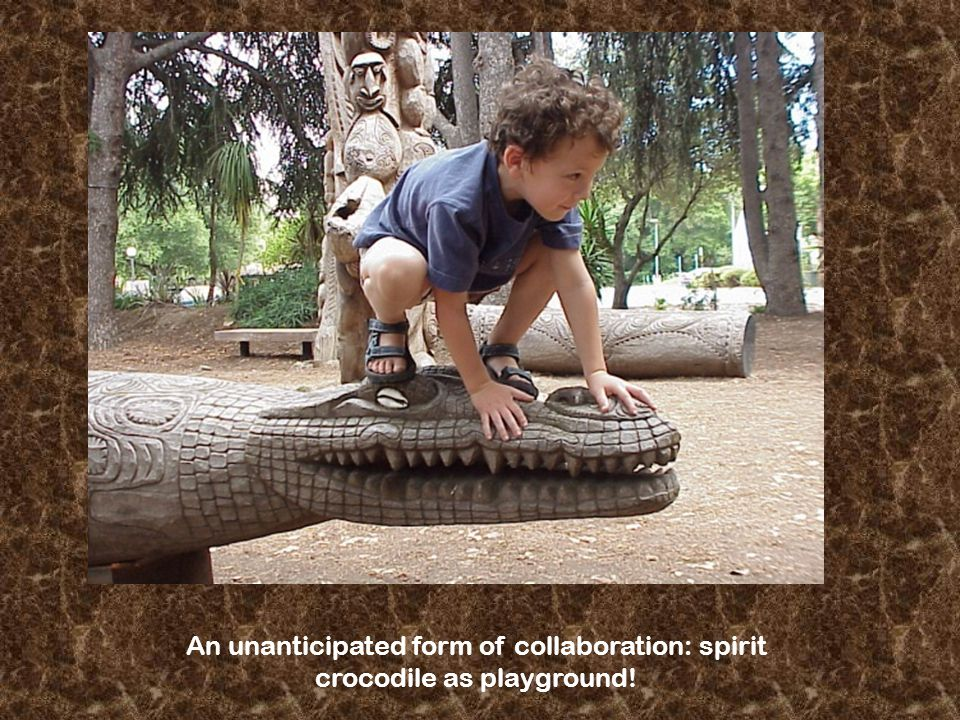 An unanticipated form of collaboration: spirit crocodile as playground!
