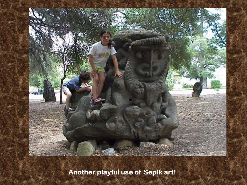 Another playful use of Sepik art!