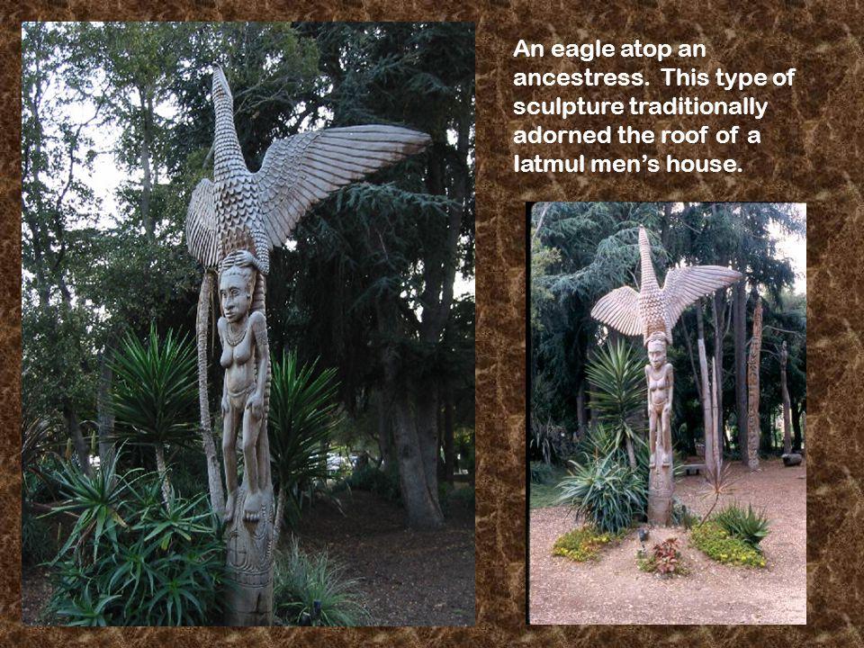 An eagle atop an ancestress.