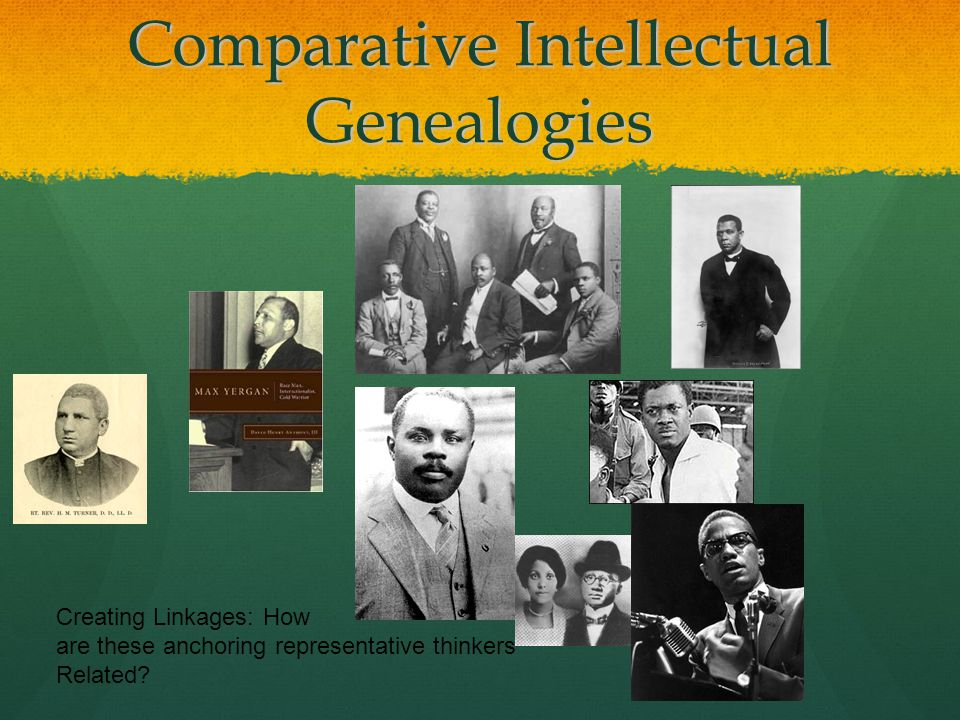 Comparative Intellectual Genealogies Creating Linkages: How are these anchoring representative thinkers Related?