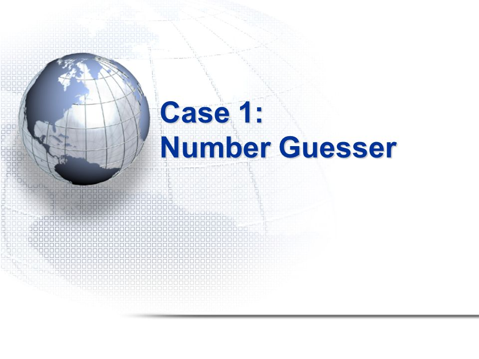 Number Guesser 2 players game ~ T hinker & Guesser Thinker thinks of a number between 1 & 100 Guesser guesses Thinker tells the guesser whether guess is high, low or correct Guesser's best strategy 1.Remember high and low guesses 2.Guess the number in between 3.If guess was high, reset remembered high guess to guess 4.If guess was low, reset remembered low guess to guess  2 processes Source http://www.sci.hkbu.edu.hk/tdgc/tutorial/ExpClusterComp/guess.c