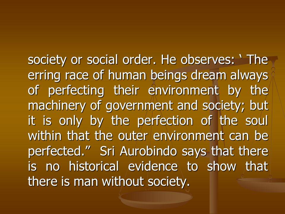 society or social order.