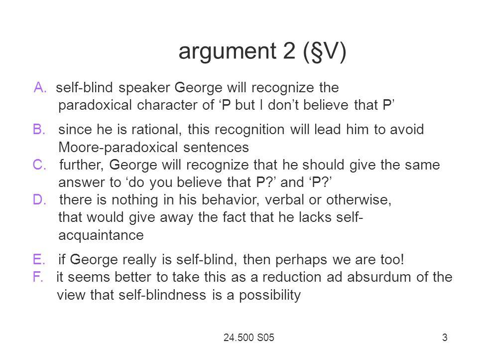 24.500 S05 3 argument 2 ( § V) A.