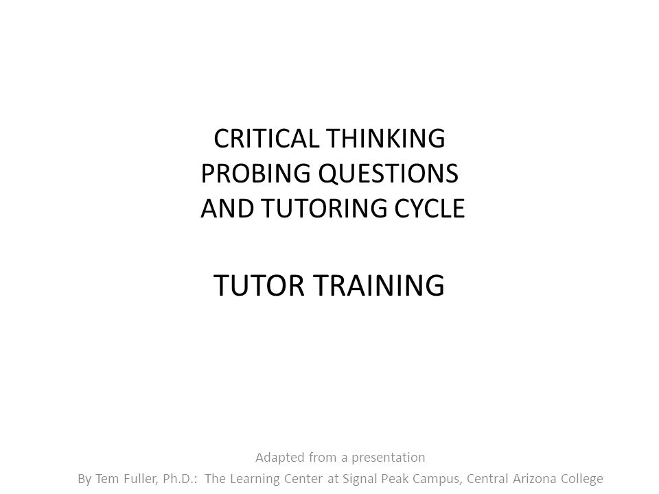 questions for critical thinking skills