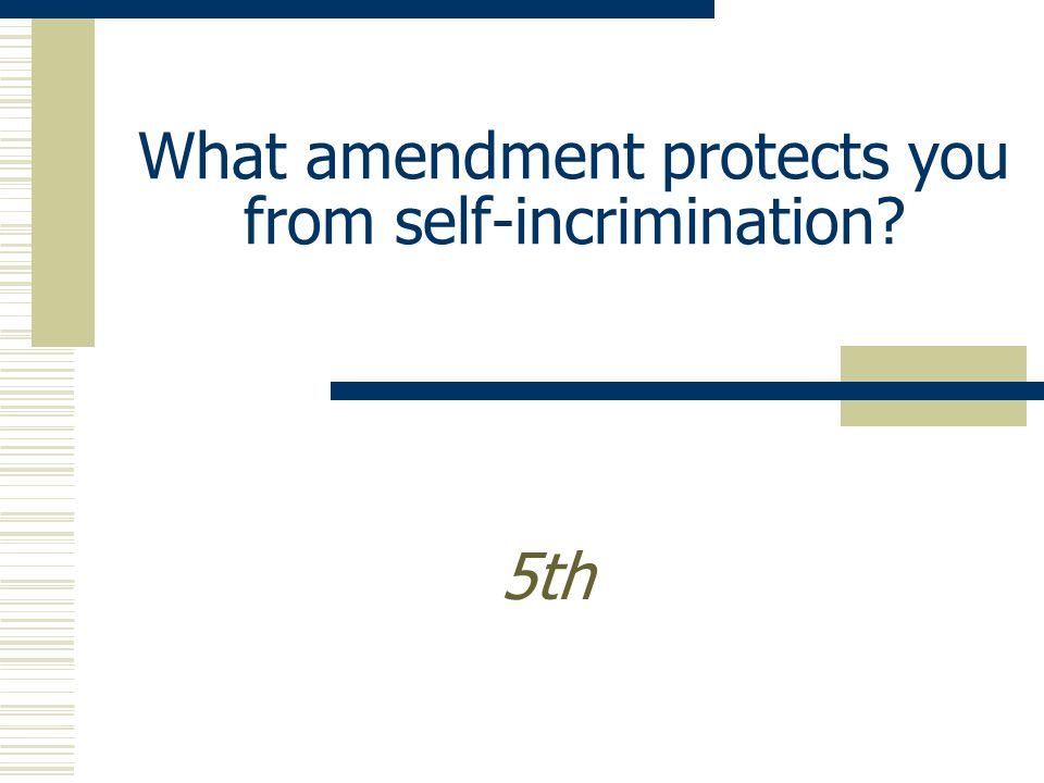 What amendment protects the rights of the accused? 6th