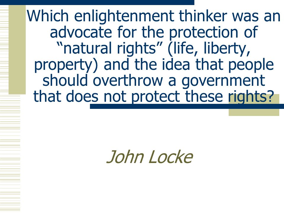 Which enlightenment thinker pushed for a three branch government and a system of checks and balances.