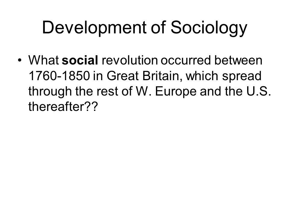 Development of Sociology….