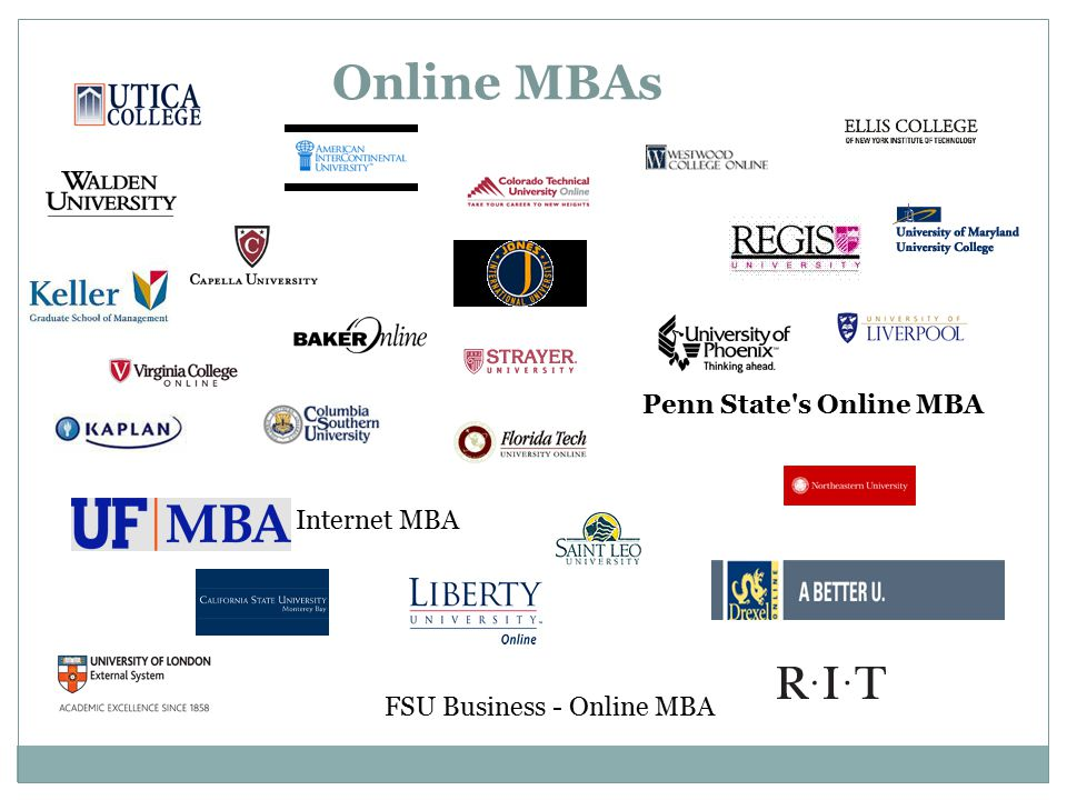 Online MBAs Penn State s Online MBA Internet MBA FSU Business - Online MBA