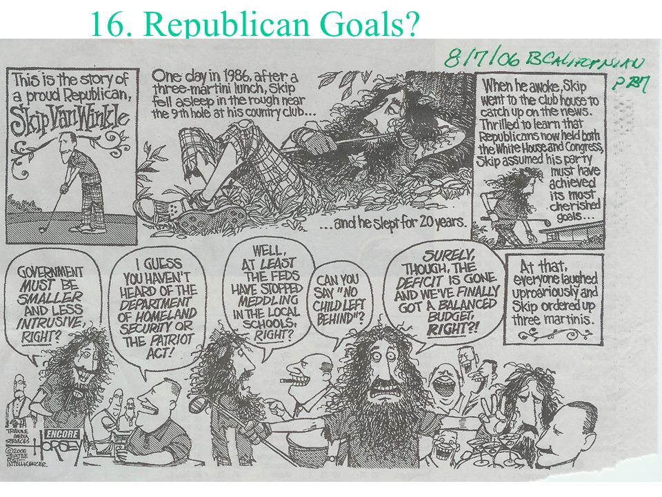 16. Republican Goals