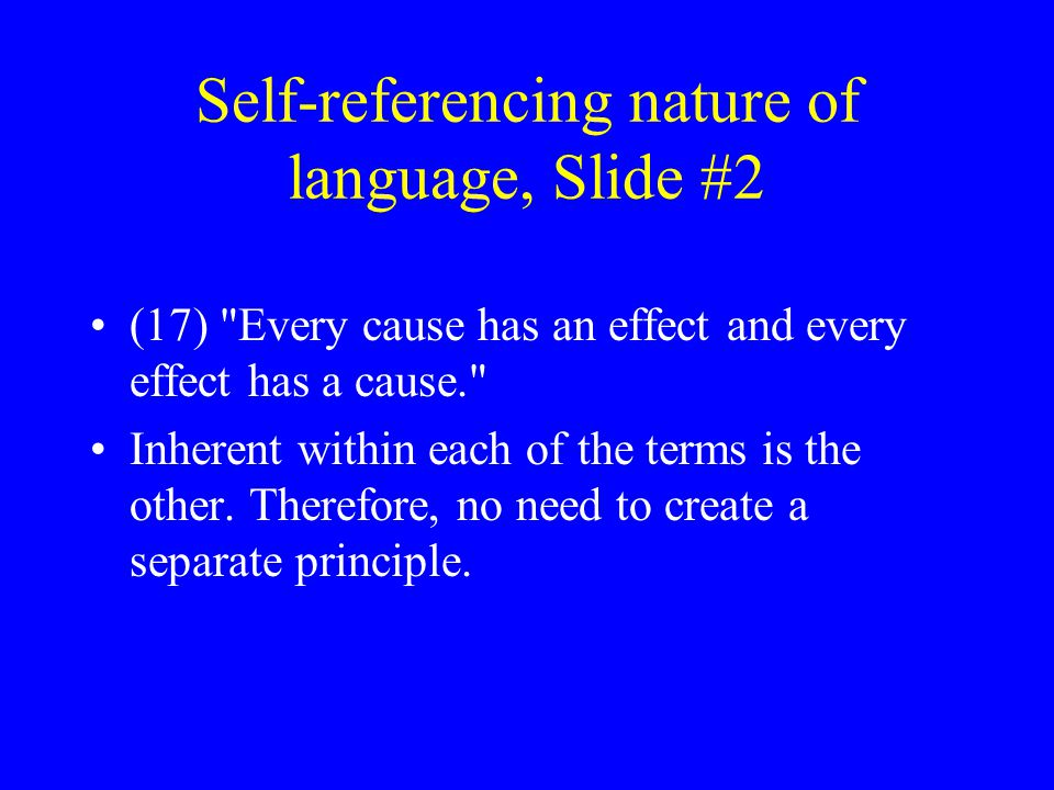 Self-referencing nature of language, Slide #2 (17)