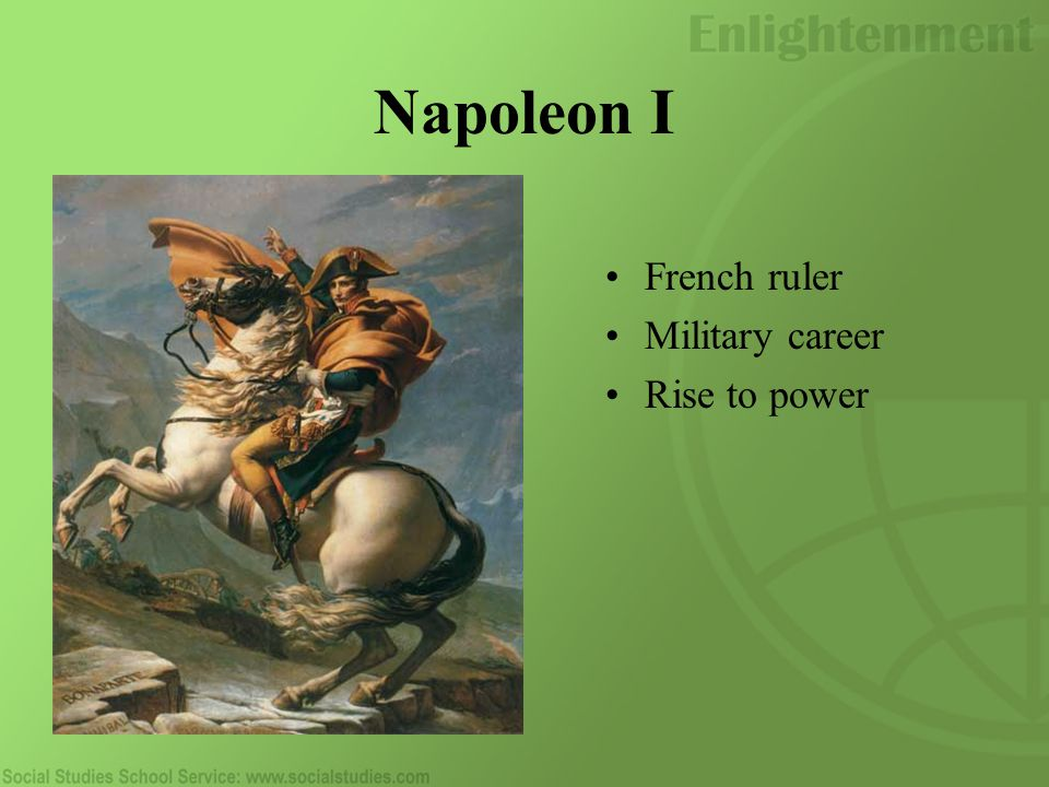 Napoleon I French ruler Military career Rise to power