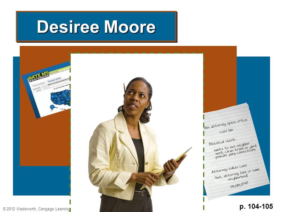 p. 104-105 Desiree Moore