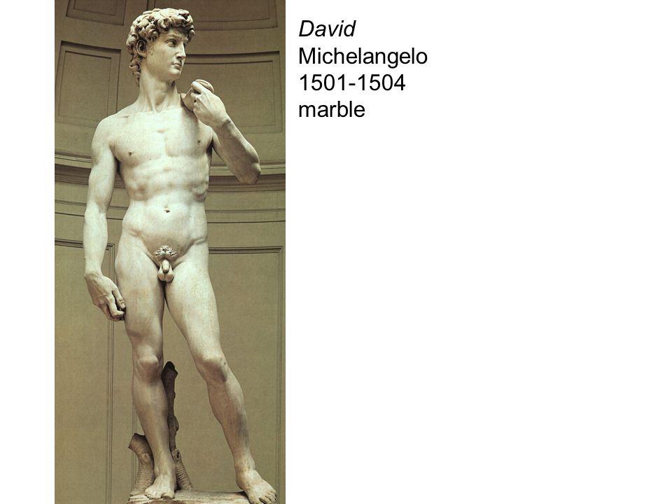 David Michelangelo 1501-1504 marble