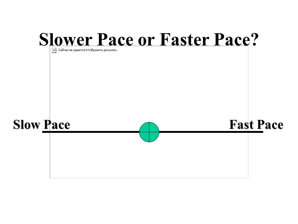 Slower Pace or Faster Pace Slow Pace Fast Pace