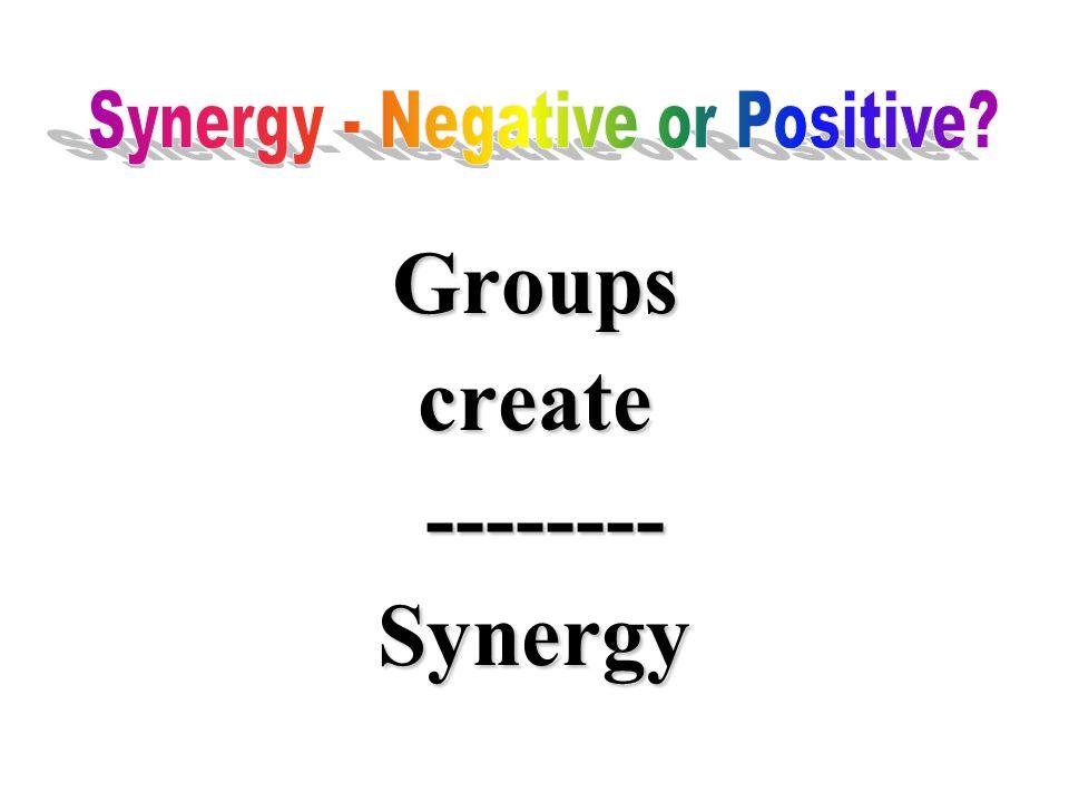Groupscreate -------- --------Synergy