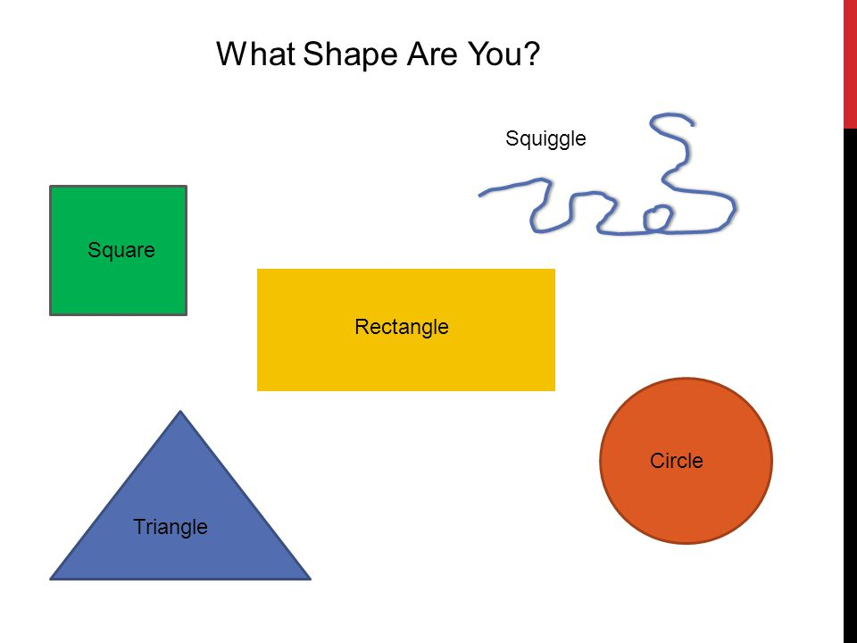 Square Rectangle Triangle Circle Squiggle What Shape Are You?