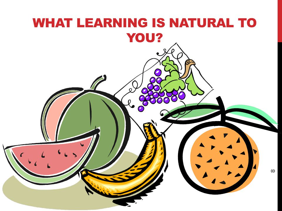 WHAT LEARNING IS NATURAL TO YOU? 8