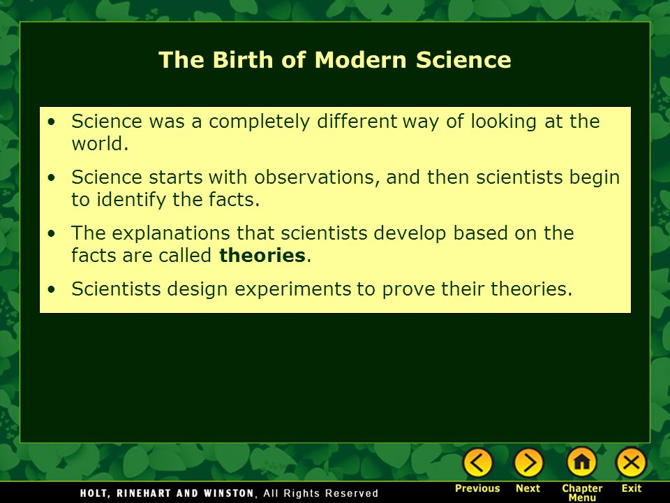 Science and Society The Big Idea The Scientific Revolution led to the establishment of science as a method of learning, new ideas about government, and conflict with religious authorities.