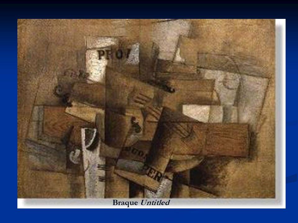 CUBISM Influence of relativity theory Influence of relativity theory Looking at objects from multiple perspectives Looking at objects from multiple perspectives Sense of time as not absolute Sense of time as not absolute Founders: Pablo Picasso (1881-1973), Georges Braque (1882- 1963) Founders: Pablo Picasso (1881-1973), Georges Braque (1882- 1963) Braque