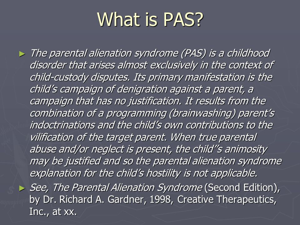 What is PAS.