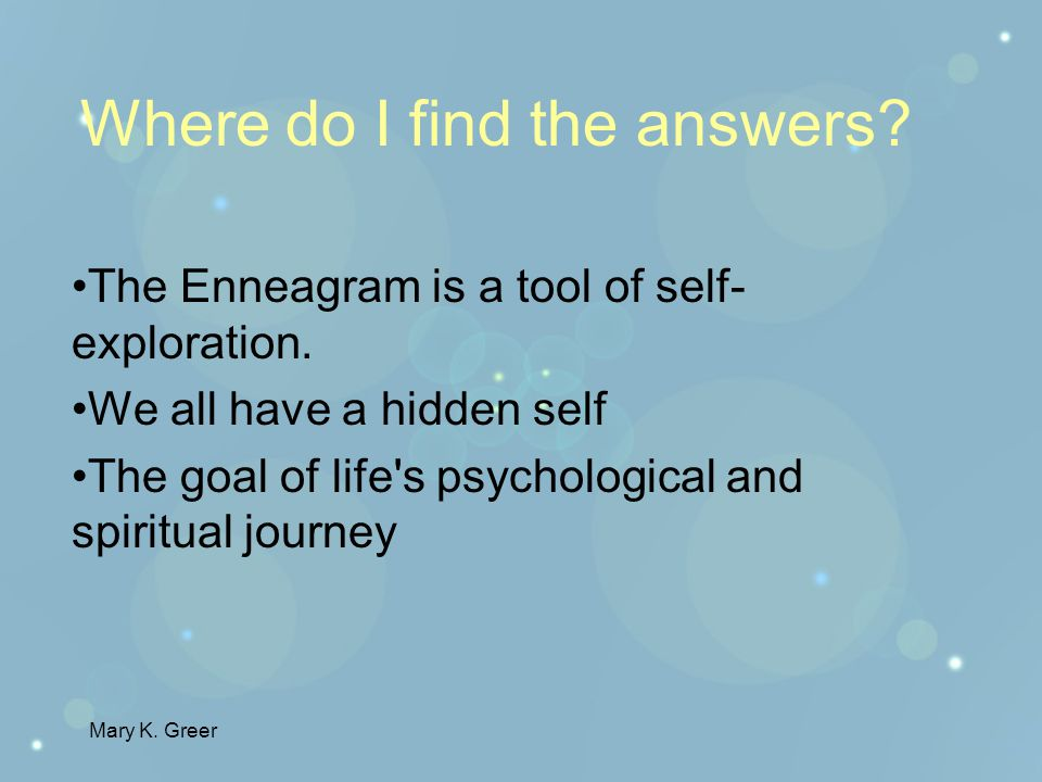 Mary K.Greer Have you ever asked yourself: What am I really like?What makes me so difficult.