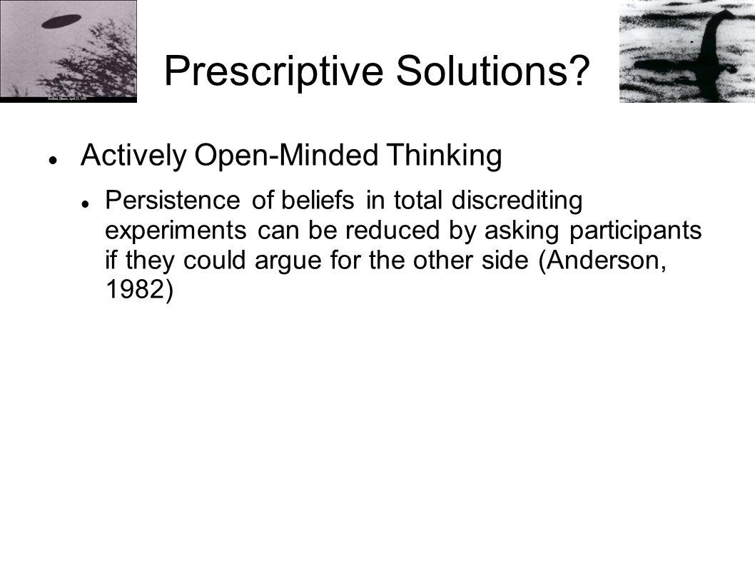 Prescriptive Solutions.