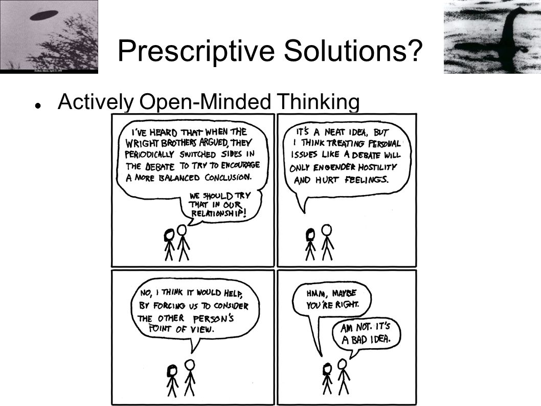 Prescriptive Solutions? Actively Open-Minded Thinking