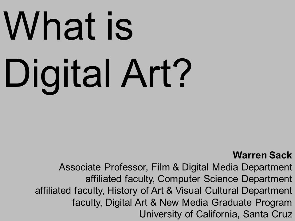 What is Digital Art.