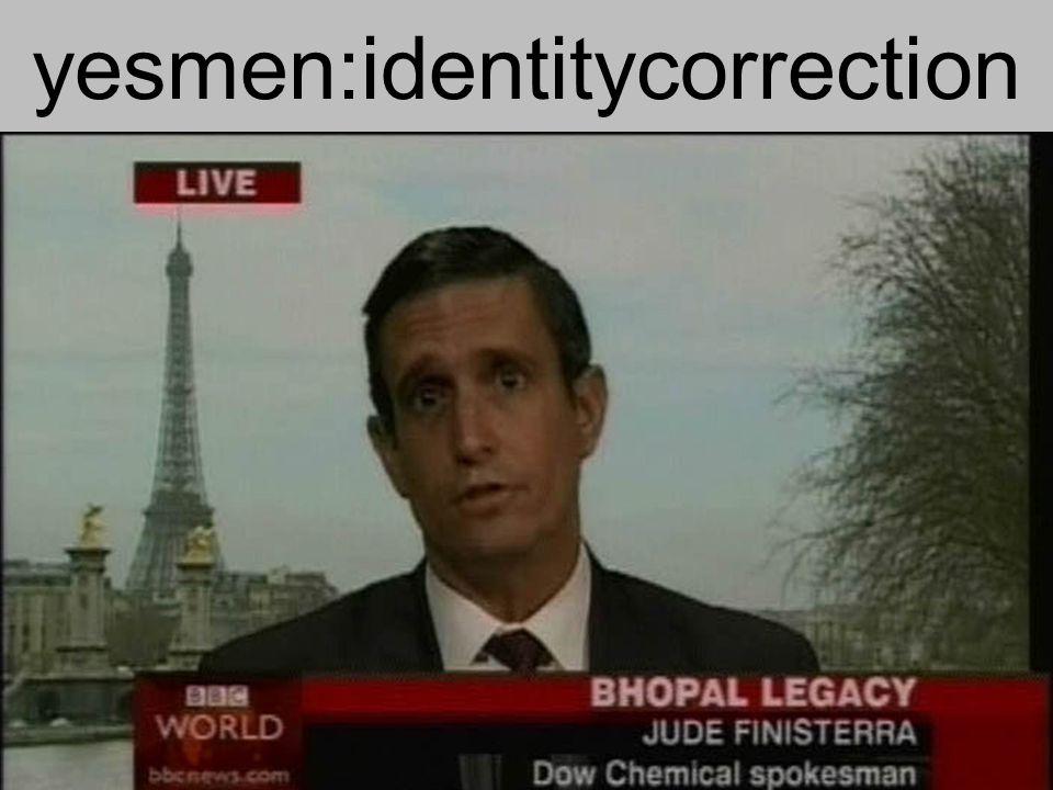 yesmen:identitycorrection