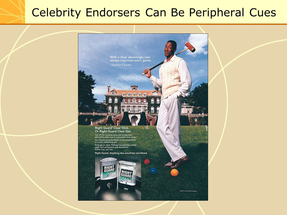 Celebrity Endorsers Can Be Peripheral Cues