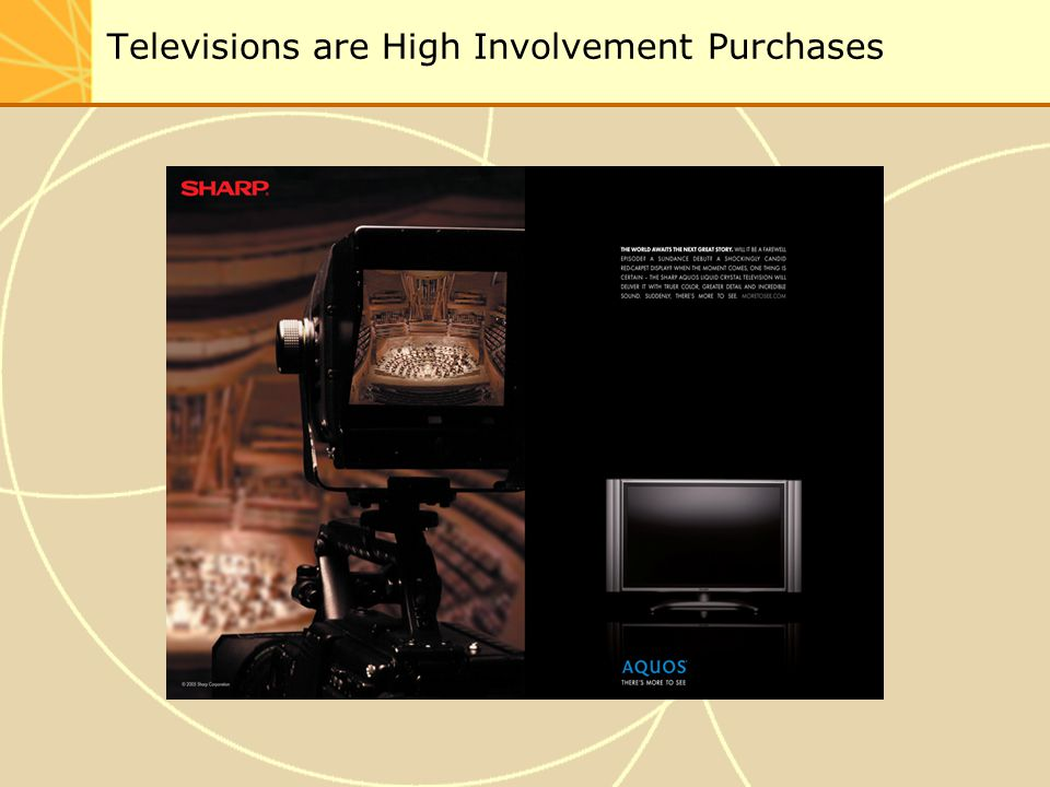 Televisions are High Involvement Purchases