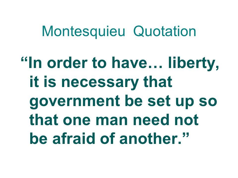 Baron de Montesquieu Wrote The Spirit of the Laws in 1748