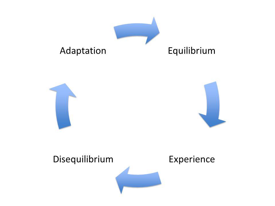 Equilibrium ExperienceDisequilibrium Adaptation