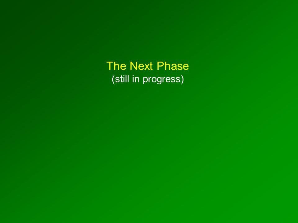 The Next Phase (still in progress)