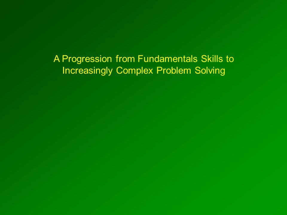 A Progression from Fundamentals Skills to Increasingly Complex Problem Solving