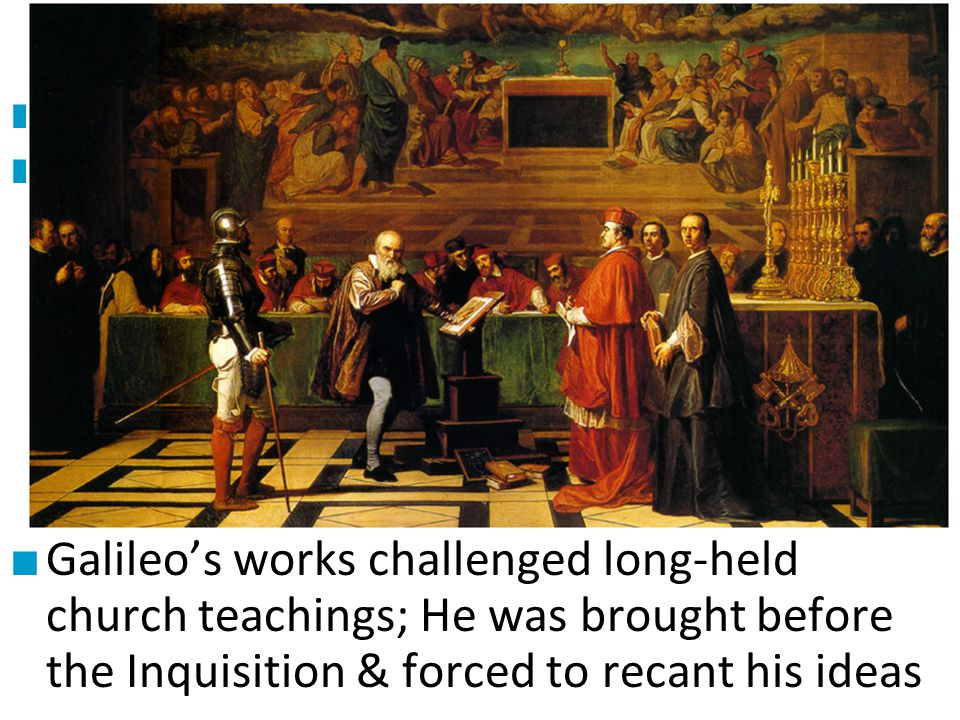 #2 Galileo Galilei ■ Galileo was one of the most ■ influential scientists ever: – Improved the telescope & made observations about the moon & solar sy