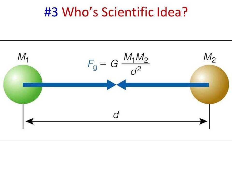 #3 Who's Scientific Idea?