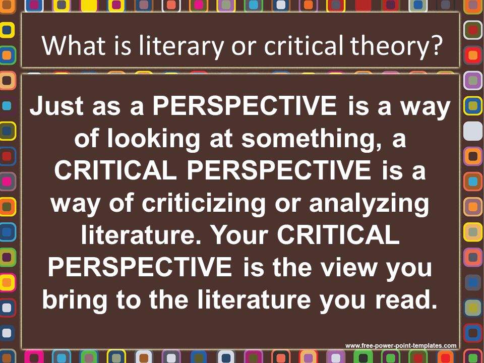 How and why did literary theory develop.