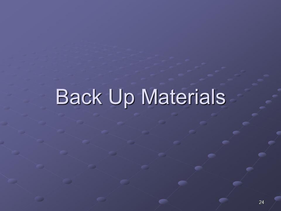 24 Back Up Materials