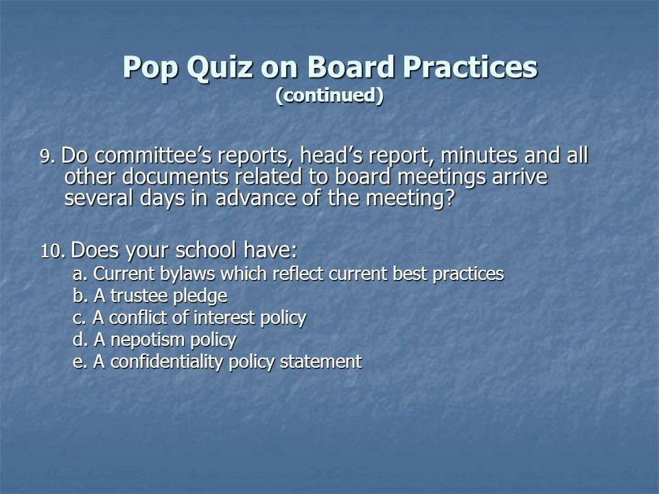 The Committee on Trustees' Multiple Responsibilities 1.