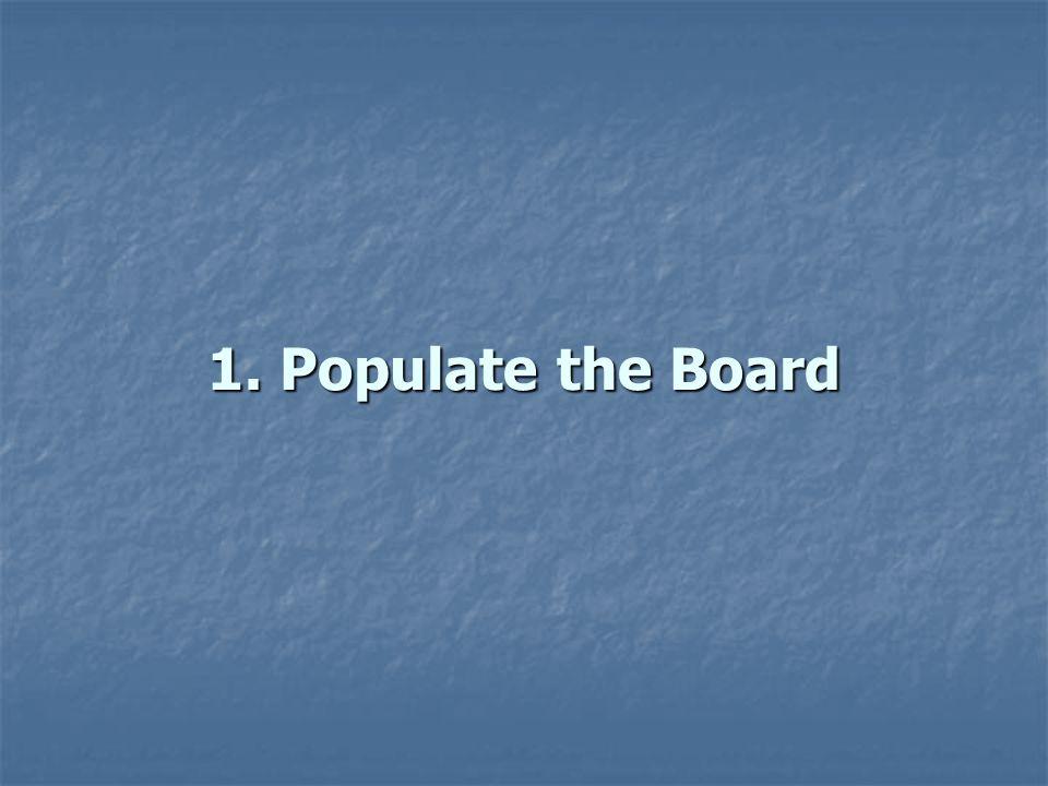 1. Populate the Board
