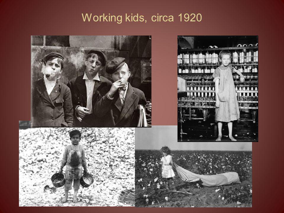 Working kids, circa 1920
