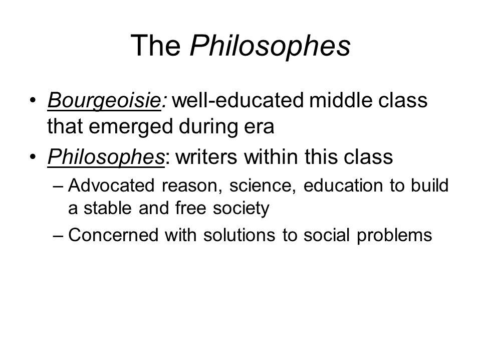 Defining Philosophes