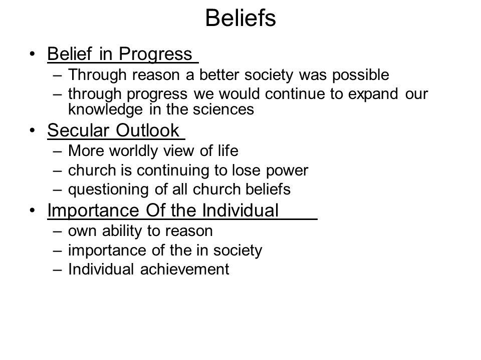 Beliefs of the Enlightenment