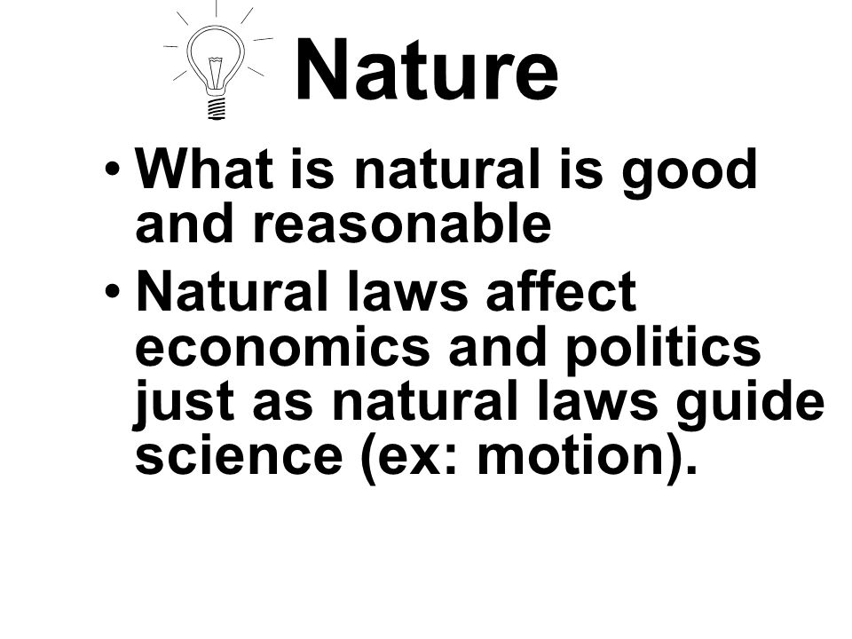 Nature Cont.e)Goal was to humanize religion. f)Rejected original sin.