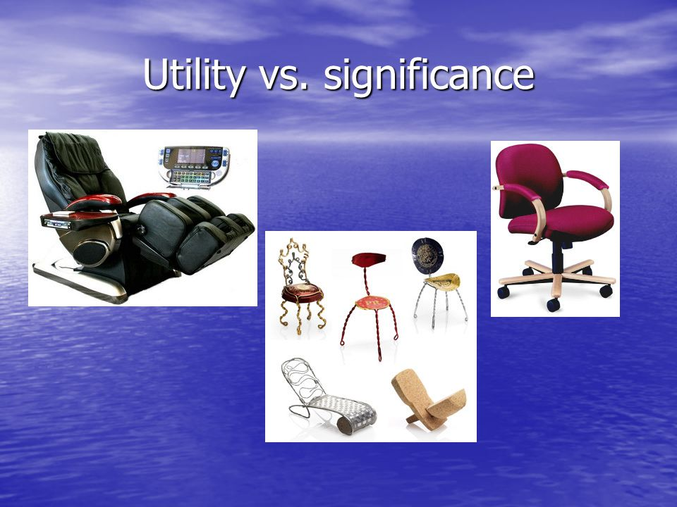 Utility vs. significance