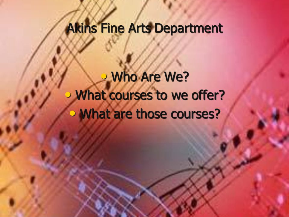 Fine Arts Musical This is where we shine!.